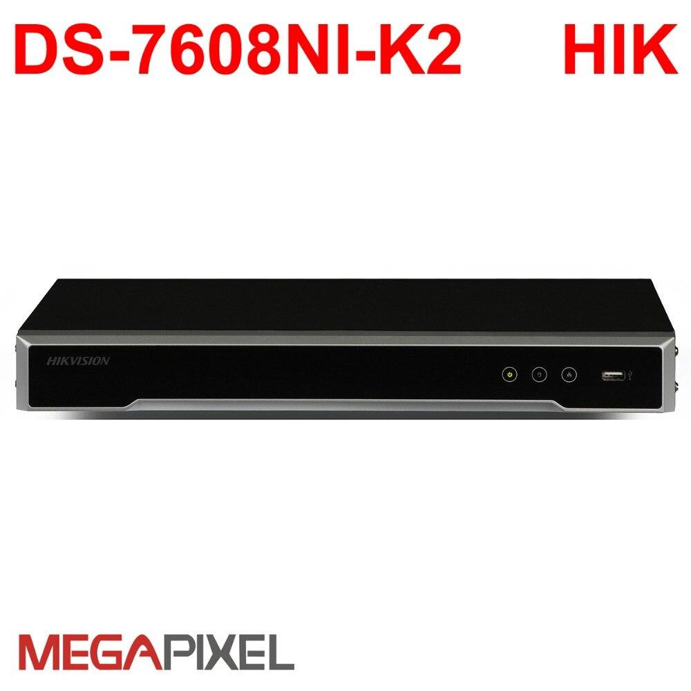 Hikvision видеонаблюдения Видео Регистраторы PoE NVR DVR IP камера 4 К 8Mp HD сети видеокамеры Главная система видеонаблюдения DS 7608NI K2