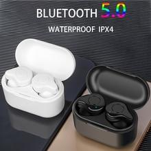 Bluetooth 5.0 Oortelefoon TWS Stereo Draadloze Hoofdtelefoon Headset Waterdichte in Ear Sport Oordopjes voor Samsung galaxy knoppen smartphone
