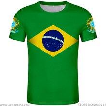 Бразильская футболка,, на заказ, с именем, номером, бюстгальтер, страна, футболка, Португалия, флаг br, португальский принт, фото, brasil federativa, сделай сам, одежда