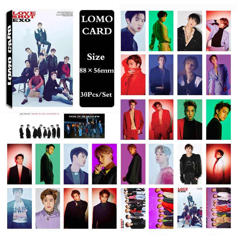 KPOP EXO Album LOVE SHOT Self Made Paper Lomo Card Photo Card Poster HD  Photocard