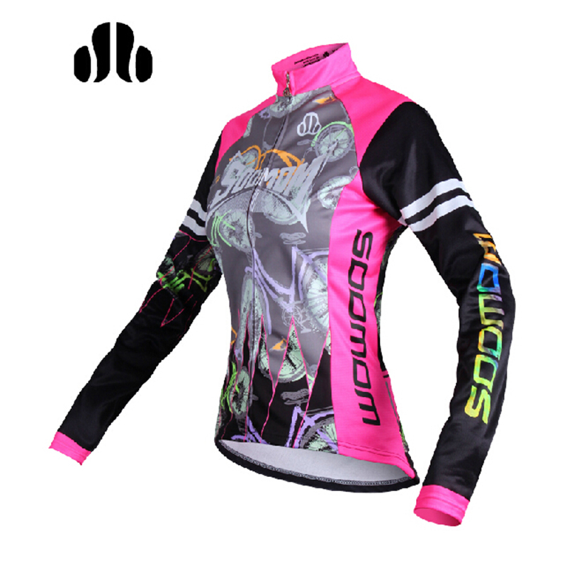 LANCE SOBIKE Autumn Womens Cycling Thermal Jacket-Lemon Cycling Long Jersey Autumn Winter Sports Riding Ropa Ciclista Jacket