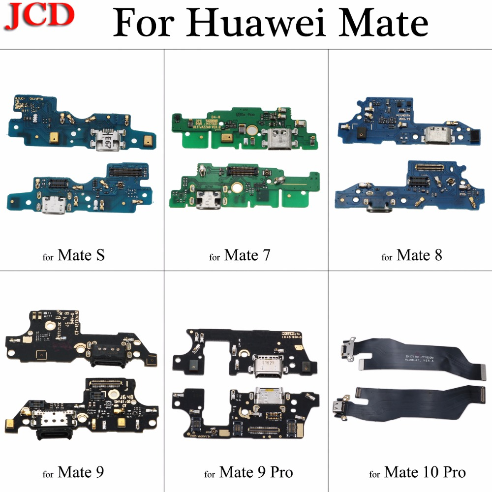 JCD USB Charger Board Flex For Huawei Mate Port Connector Charging Dock Flex Cable For Mate S 7 8 9 9 Pro 10 Pro Repair Parts