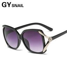 GY SNAIL UV400 Sunglasses Classic Large Brand Fashion With D Logo Design Eyewear Round Black Sun Glasses For Women Pilot 2017 HD