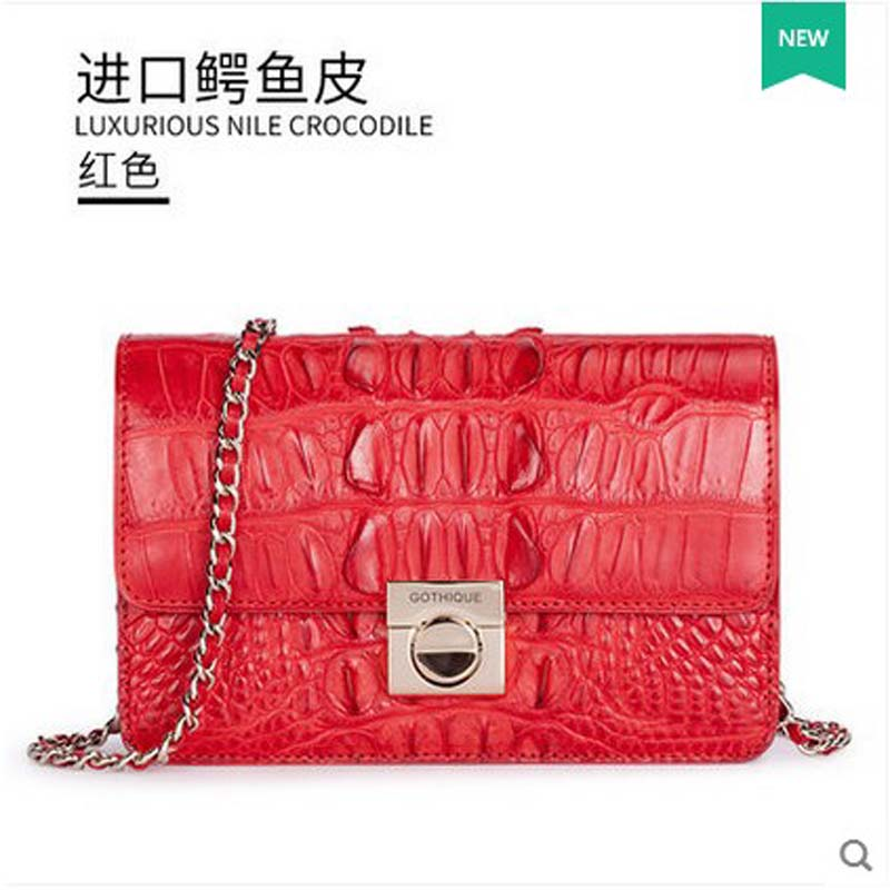 2018 gete  new hot  thailand crocodile leather women handbag dinner package yuanyu 2018 new hot free shipping thailand crocodile leather female clutches women packets crocodile grain long women handbag