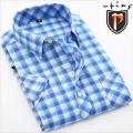 New 2016 summer 19 colors cotton short sleeve shirt fashion slim fit men shirt classic formal & casual plaid shirt men