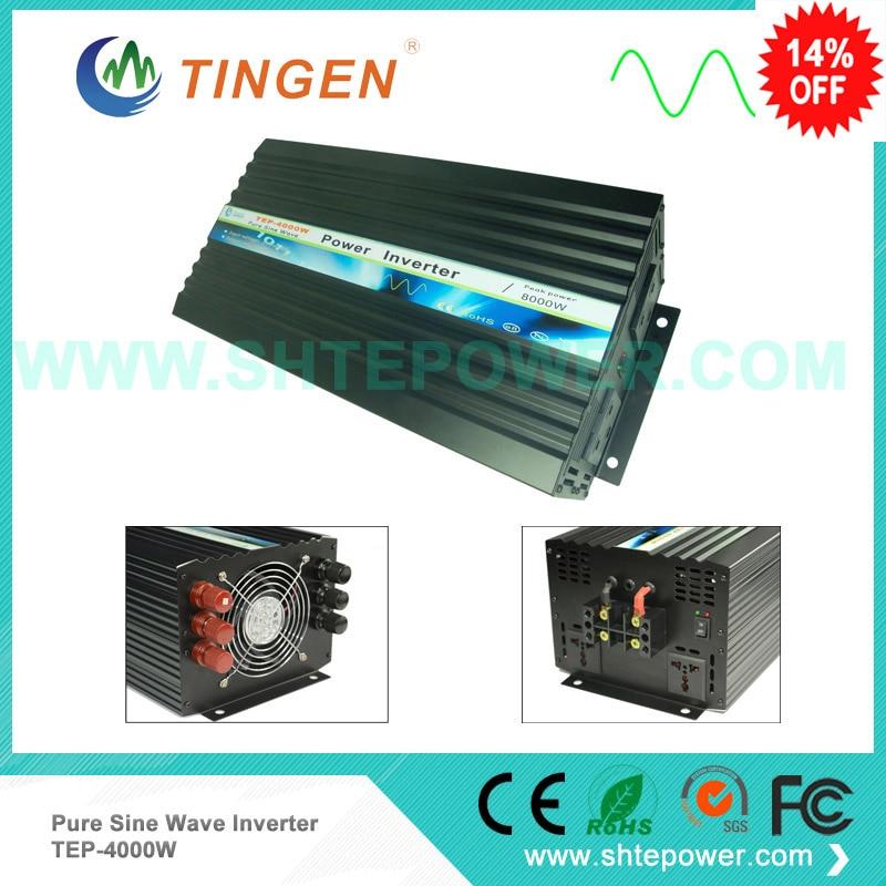 цена на TEP-4000W 4kw dc to ac power inverter 12v 220v 12v 230v 24v 100v off grid tie invertor pure sine wave 50HZ