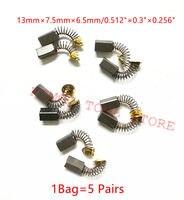 5 par szczotki węglowe dla HITACHI 26 DH26 999021 WR16SA WR14VB RB40SA PDA100K P20SF P20SB G13SS G10SF3 DH25PA DH25PB D10YB w Akcesoria do elektronarzędzi od Narzędzia na