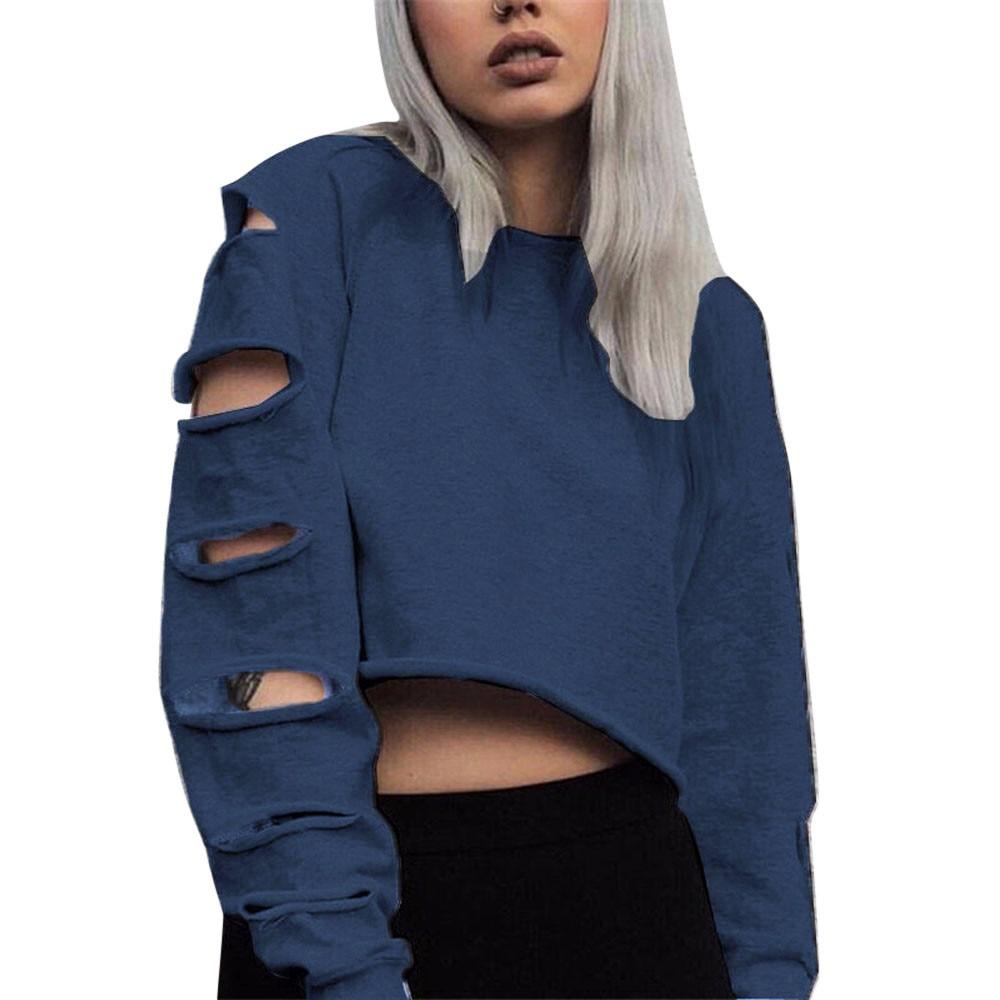 650e46bad Blue Sweatshirts Womens   Top Mode Depot