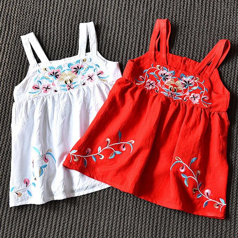2-10 år Sommar Baby Girls Bomull Ärmlös Vest Teenage Klänning Floral ... 9e433ae3ee2e8