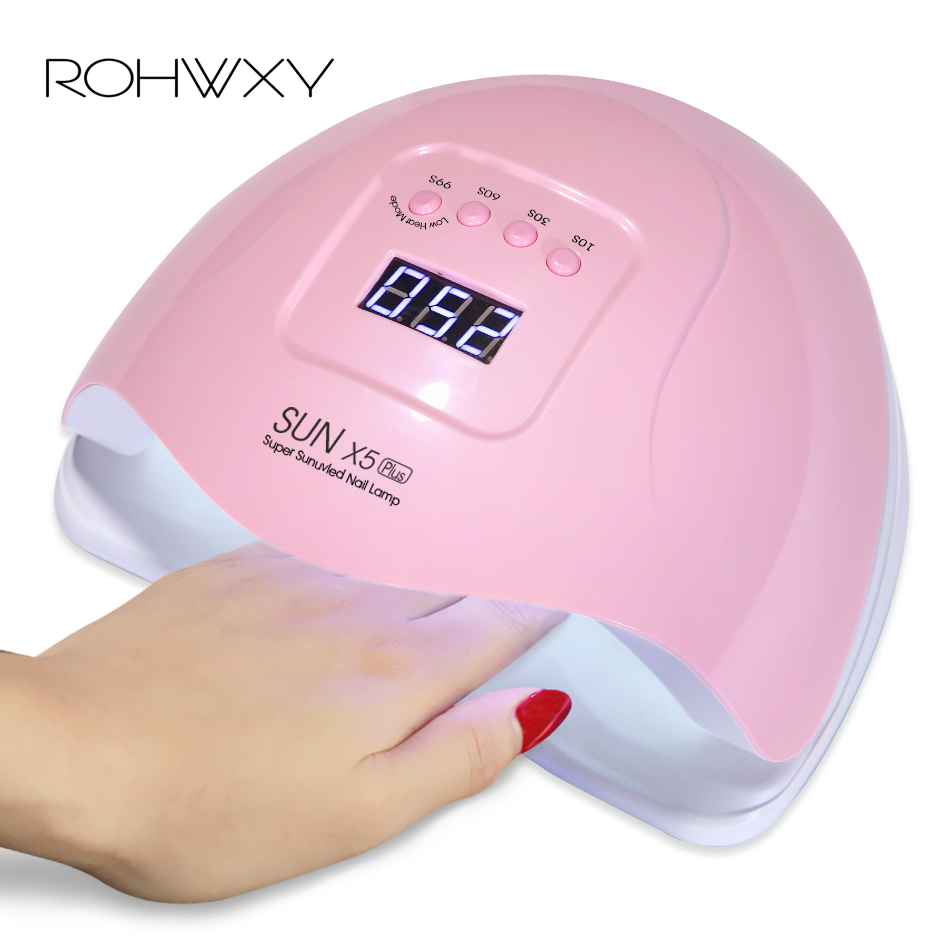 ROHWXY 54W Nail Lamp LED UV Ice Lamp For Manicure Nail Dryer For All Nail Gel Polish With LCD Display For Nail Art ToolsROHWXY 54W Nail Lamp LED UV Ice Lamp For Manicure Nail Dryer For All Nail Gel Polish With LCD Display For Nail Art Tools