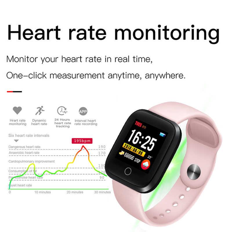 2019 Ini Baru Berwarna Merah Muda Smart Gelang Wanita Kebugaran Gelang Heart Rate Tekanan Darah Monitor Smart Sport Jam Tangan Relogio Masculin