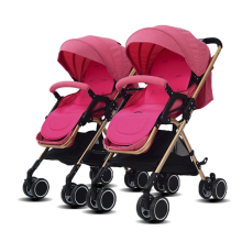 Baby stroller twins trolley folding two-way can be sitting c