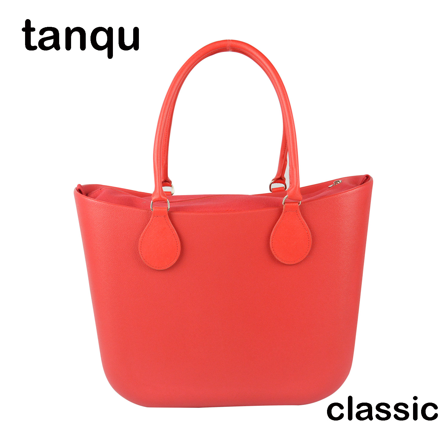 2018 New tanqu Classic EVA Bag with Insert Inner Pocket Colorful Handles EVA Silicon Rubber Waterproof Women Handbag Obag Style new colorful cartoon floral insert lining for o chic ochic canvas waterproof inner pocket for obag women handbag