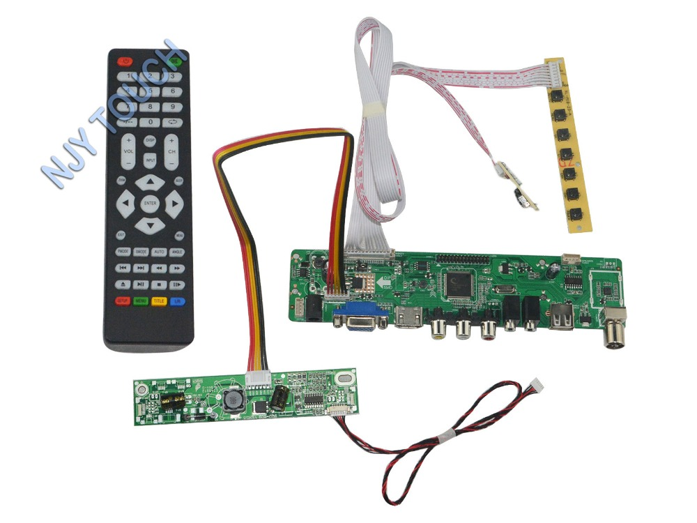 LA.MV56U.A New Universal HDMI USB AV VGA ATV PC LCD Controller Board for 18.5inch 1366X768 M185XW01 VD LED LVDS Monitor Kit new universal hdmi usb av vga atv pc lcd controller board led lvds monitor kit for 13 3inch 1280x800 ltn133at09 panel