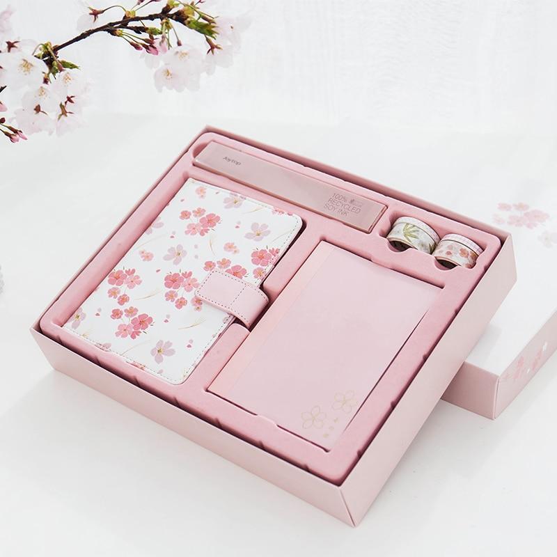 sakura gift set stationery notebook  pen  tapes beautiful