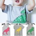 2017 New Kids Dinosaurio T-shirt Para Niños Niñas Tops Camisetas camisetas Nununu Bebé Resorte de la Ropa de Verano