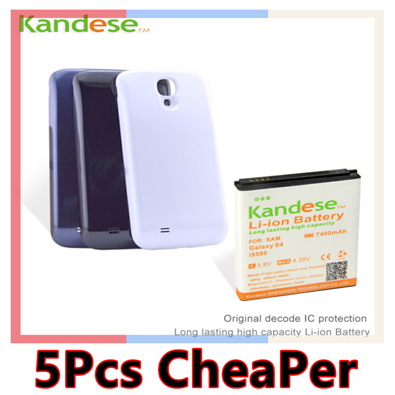 Hot Brand KANDESE White Black Blue Door Cover 7400mAh Large capacity Extended Battery For Samsung Galaxy