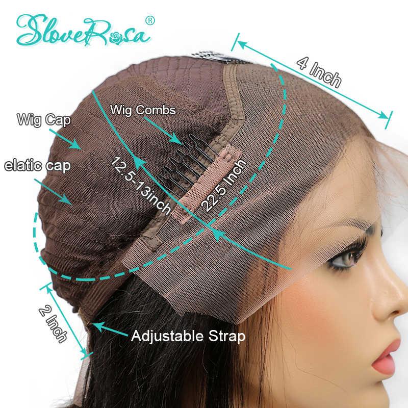 Вьющиеся волосы с боковой частью, парик из человеческих волос, Короткие парики из волос для малышей, перуанские прямые волосы для женщин, Slove Rosa Hair