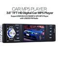 Coche MP5 Reproductor de Audio Estéreo Reproductor de Pantalla LCD de 3.6 pulgadas Receptor de Radio FM Aux de Entrada SD/Puerto USB MP3/WMA/WMV/OGG/APE/ACC/FLAC