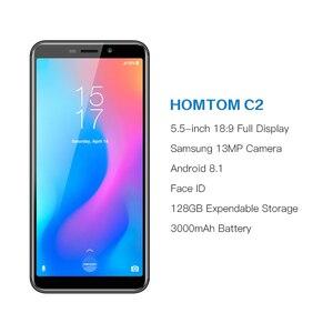 Image 2 - オリジナルhomtom C2 アンドロイド 8.1 2 ギガバイト + 16 ギガバイトrom携帯電話の顔id MTK6739 クアッドコア 13MPデュアルカメラota 4 グラムFDD LTEスマートフォン