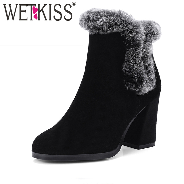 WETKISS Winter Damens's Winter WETKISS Stiefel On Fur Autumn Ankle Stiefel Easy Walking ... 0e378f