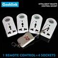 Geeklink 4 unids Potencia Socket Smart Switch Inalámbrico con Función RC RF Casa Inteligente Zócalo Del Enchufe de Energía de Control Remoto Controlador