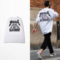 Plus Size Autumn Mens Kanye West Yeezus Long Sleeve T Shirts Male White Black Yeezus Yeezy Top Tee T-Shirt EU Size S-3XL