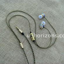 Urizons brand snake pattern cable with unique punk earbud case National characteristics in-ear earpiece