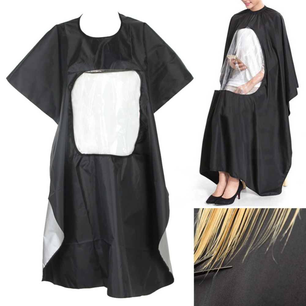 US $10.10 10% OFFProfessional Salon Barber cape Hairdresser Hair Cutting  Gown cape with Viewing Window Apron Waterproof Clothes Hair Stylingsalon