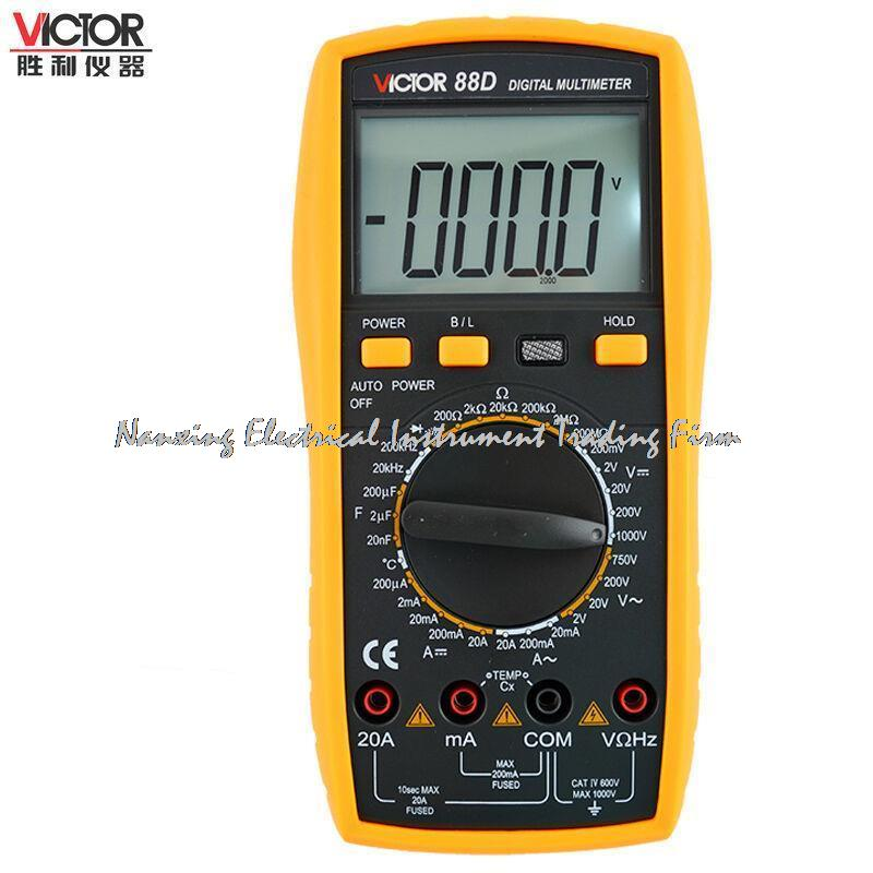 ФОТО 4-8 days up Victor VC88D Digital Multimeter, Full function protection, anti-high voltage circuit design, Backlight, lager LCD