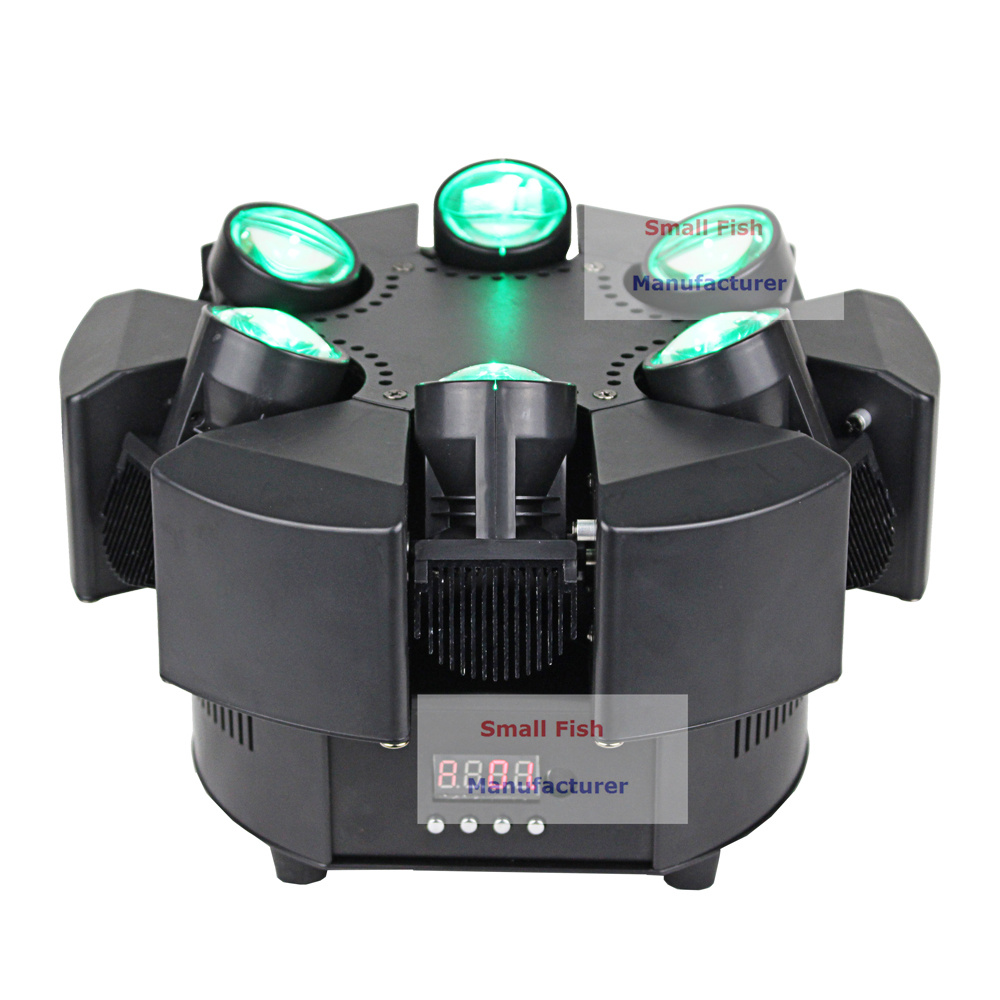 Image 3 - 6X10W RGBW 4IN1 LED Beam Lights 6 Heads Unique Beam Moving Head Strobe Lights DMX 17/38 Channel Professional Dj Bar Party Lights-in Stage Lighting Effect from Lights & Lighting