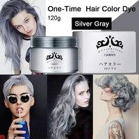 Szary Kolor Farbowania Włosów Krem Jednorazowa Tymczasowe Włosów Kolorystyka Zmywalne DIY Home Włosów Bez Szkody Dla 7 Kolory 120g