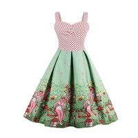 Sisjuly Women S Vintage Dress Dot Patchwork Pattern Print 50s 60s Vintage Dress Rockabilly Swing Feminino
