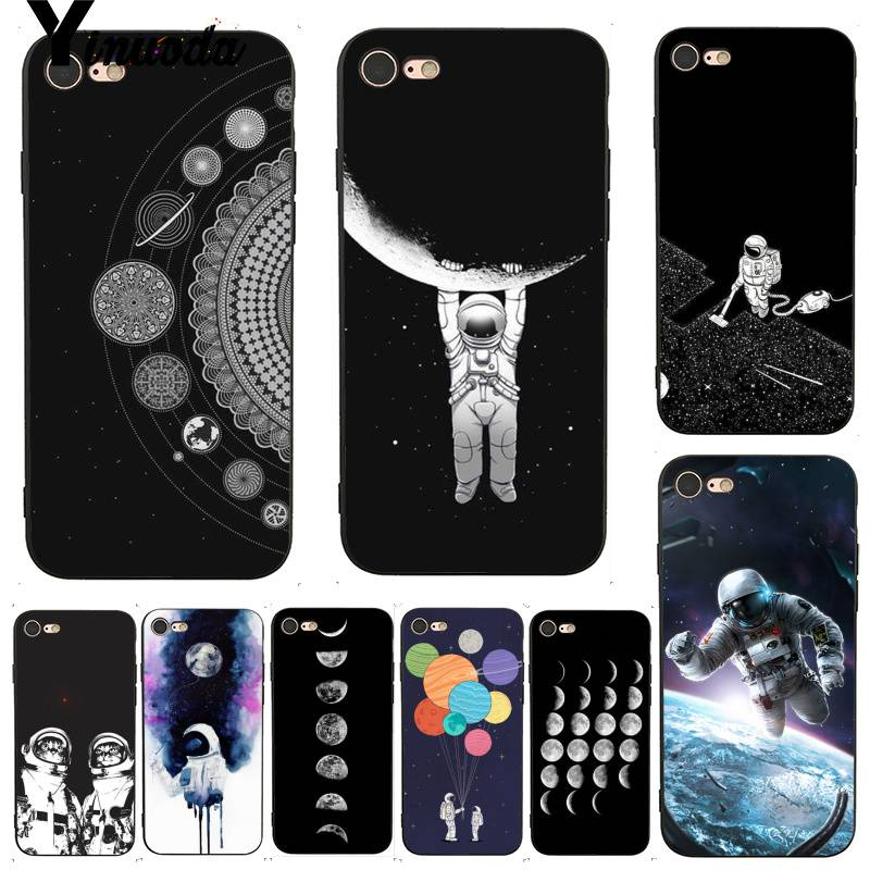 Yinuoda For Iphone 7 6 X Case Space Love Moon Astronaut Painted Smart Phone Case For Iphone X 8 7 6 6s Plus X 5 Xs Xr Cases Phone Bags & Cases