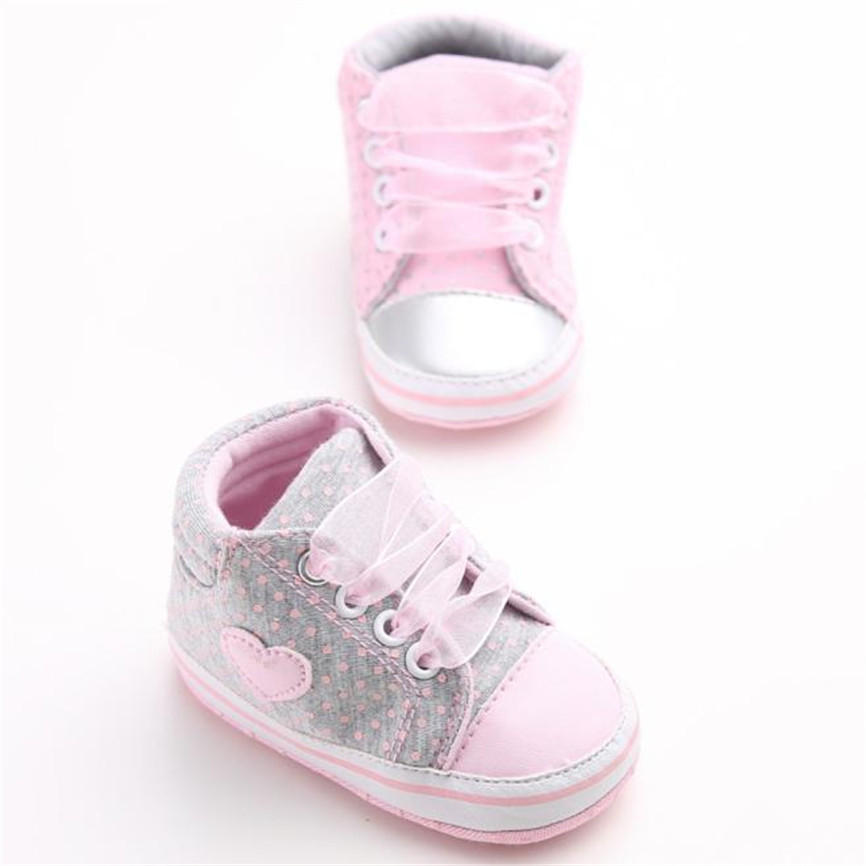 2018 Baby Shoes Girl Canvas Shoe Baby Boys Soft Bottom Shoes Sneaker Anti-slip Soft Sole Toddler For 0~18M Dropshipping 0122