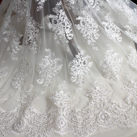 High grade eyelash lace sequins embroidery lace hand DIY bride wedding material clothing clothes curtain fabric