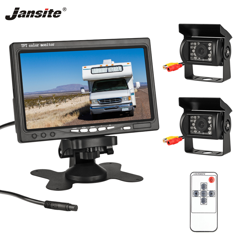 Jansite 7 TFT LCD Wired HD Car Monitor Display + Reverse Camera Parking System for Car Rear view Monitor Applicable truckJansite 7 TFT LCD Wired HD Car Monitor Display + Reverse Camera Parking System for Car Rear view Monitor Applicable truck