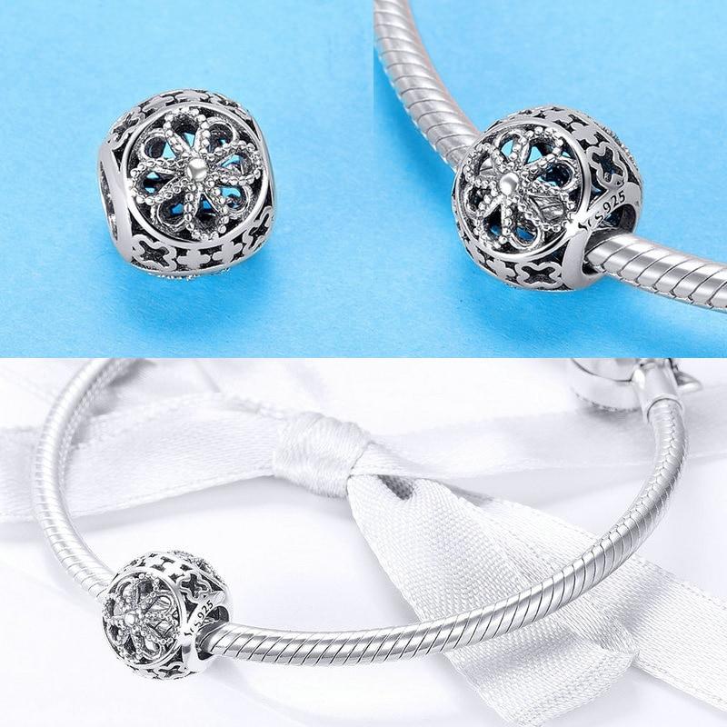 BISAER berloque 925 encantos del corazón de la plata esterlina de la - Bisutería - foto 6