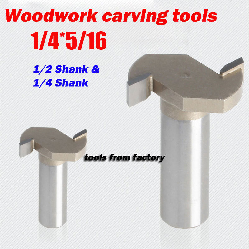1pc 1/4*5/16 Woodworking Carving Cutter CNC Engraving Tools Cutting the Wood Router Bits 1/4 SHK