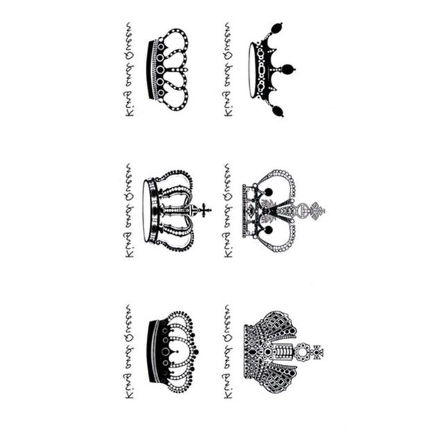 Nueva Forma De Corona Pegatinas Tatuaje Lindo Etiquetas Engomadas