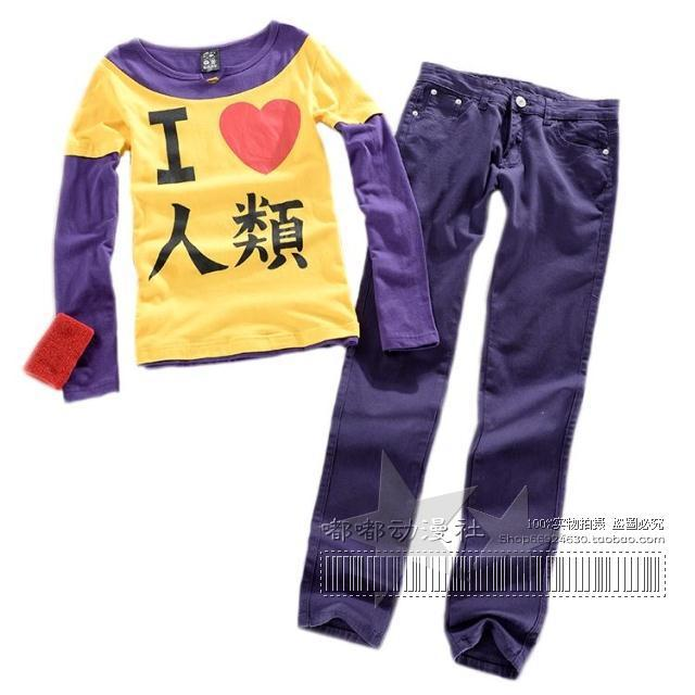 NO GAME NO LIFE Sora Cosplay Costume The game of life cosplay costumes tops+pants