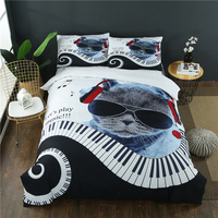 Digital Printed HiFi Cat Bedding set Cool Duvet Cover Pillowcases US Twin Full Queen King Customized Size 3Pcs