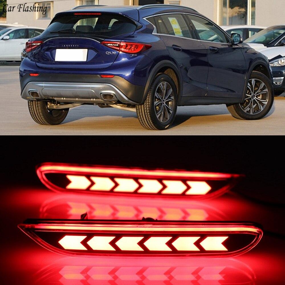 Rear Bumper Warning Turn Signal Light Running Lamp Brake Tail Light For Infiniti Q50 Q70 QX30 QX56 QX60 QX80 JX35 Q30