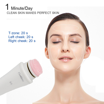 Facial Cleaning Tools USB Rechargeable Handheld Cleanser Brush Pore Deep Clean Makeup Remover Anti-oil Facial Cleansing Device 2