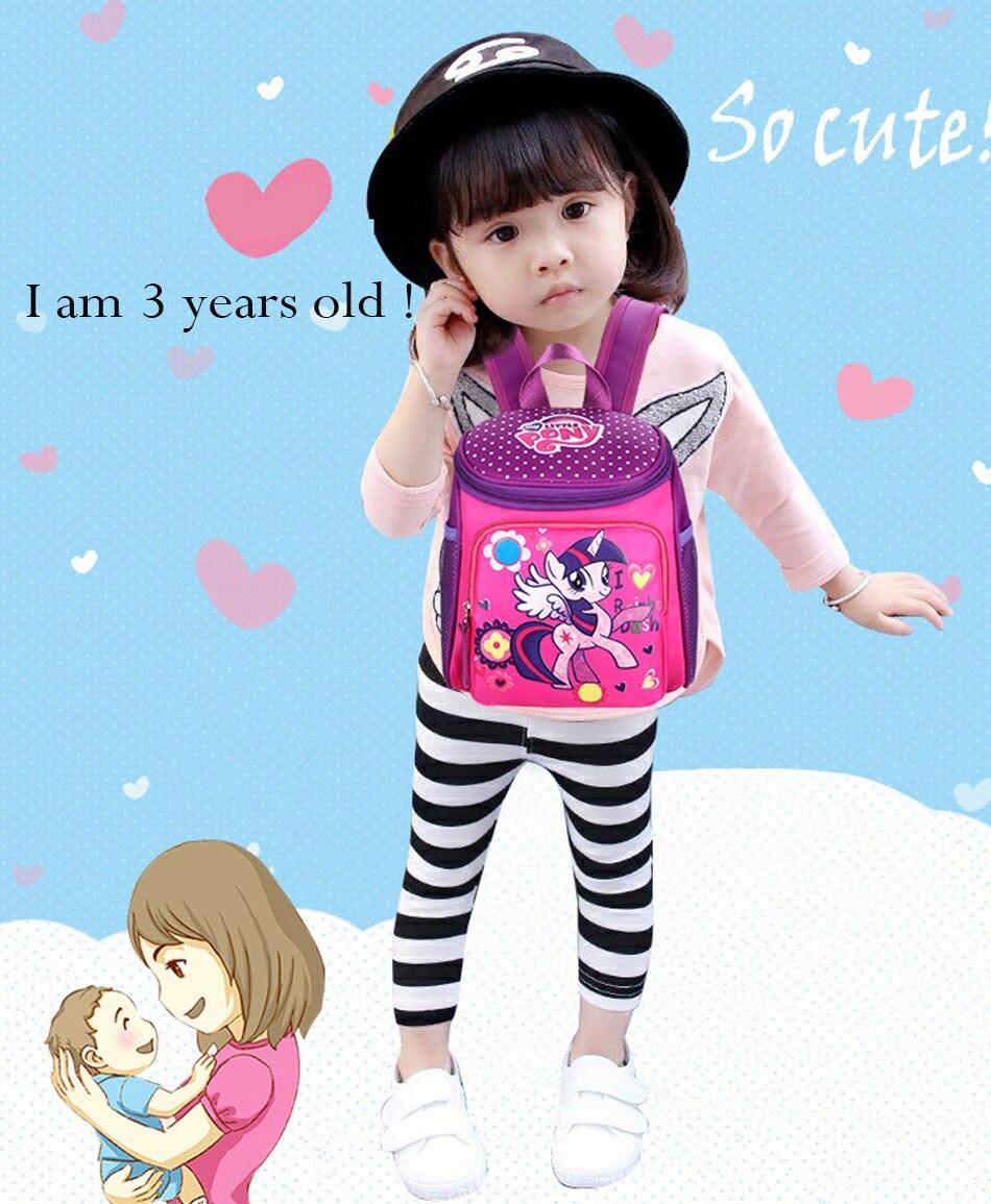 My little pony School bags for Toddler Kids Cute Children Mini Hello Kitty schoolbag Cartoon orthopedic Backpack for boys girl (1)