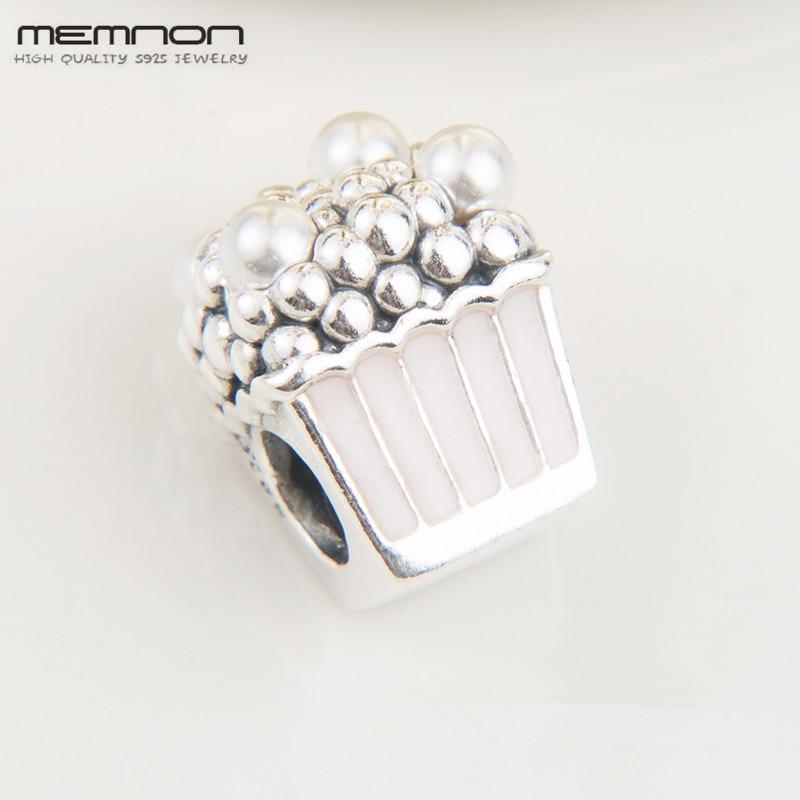 2018 New Summer Popcorn Charms 925 sterling Silver Enamel charm fit Bracelet Necklace DIY for women Memnon fine jewelry BE569