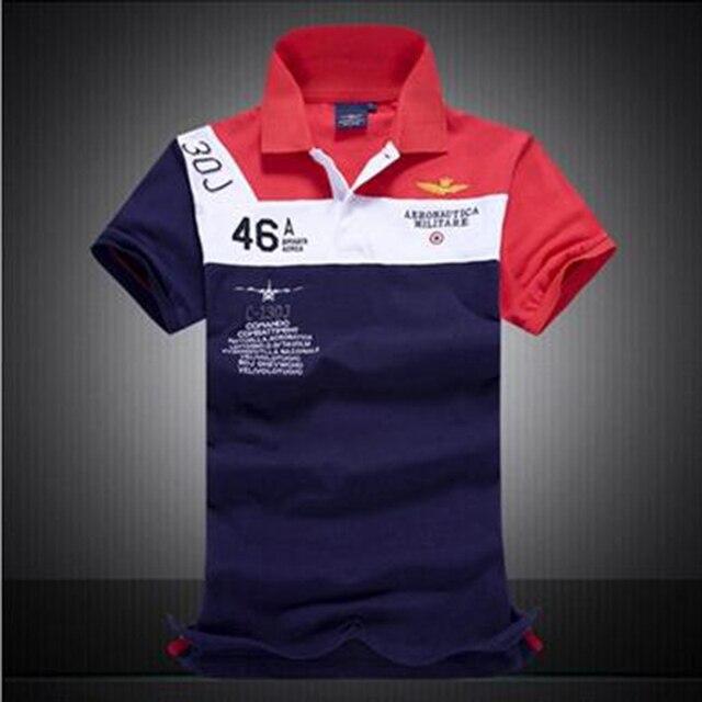 Высокое качество Рубашки Поло поло homme Aeronautica Militare С Коротким рукавом человек Бренды поло ralphmen футболка большой размер
