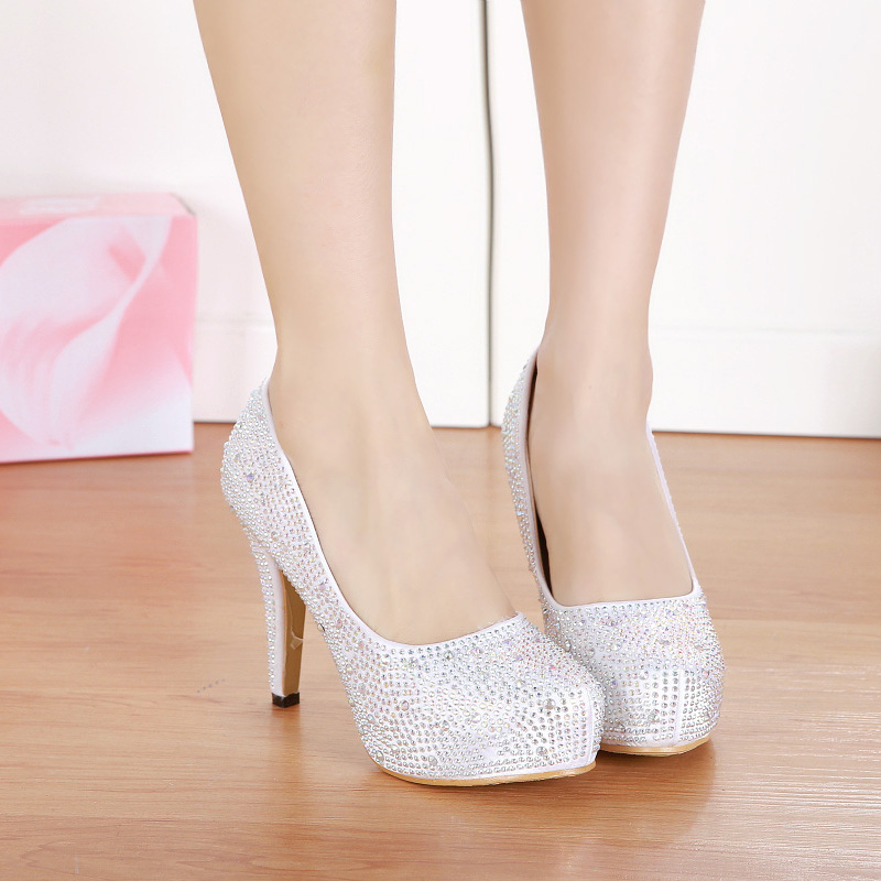 Popular Silver Diamond Heels-Buy Cheap Silver Diamond Heels lots ...