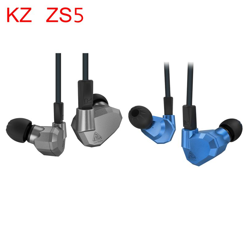 Original KZ ZS5 HIFI Earphones 2DD+2BA Hybrid In Ear DJ Monito Super Bass Earplug Headsets Stereo Surround Earbuds For iPhone duuti h691 bicycle tire repair tool adhesive patches kit black