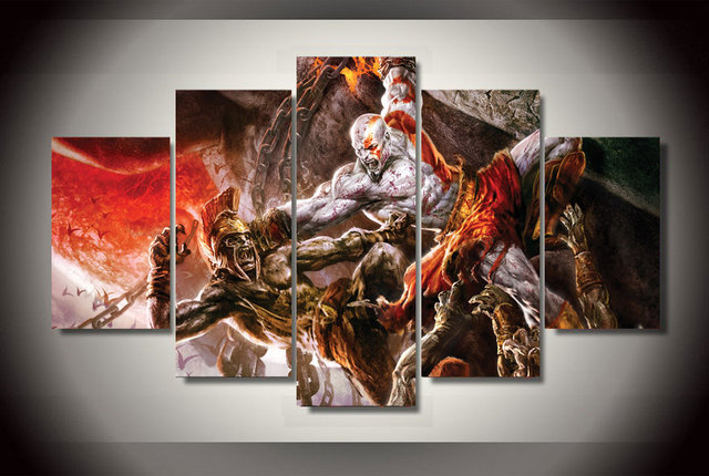 Wall Decoration For Living Room Modern Design Ideas Large Hd God Of War Ascension Kratos Game Poster Unframed ...